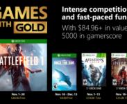 Odhalena listopadová nabídka Xbox Live Games with Gold s Battlefield 1