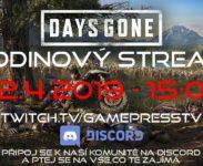 Days Gone v hodinovém live streamu o velikonočním pondělí