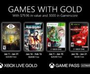 Nabídka Games With Gold na leden 2021